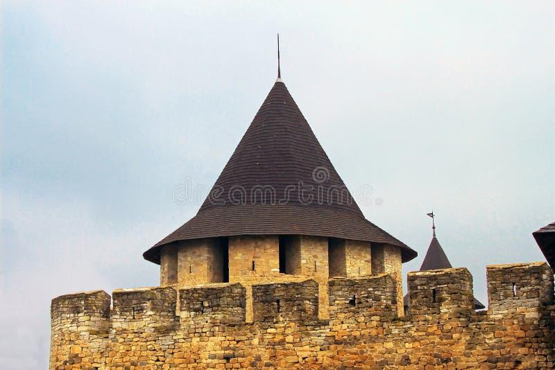 Φρούριο Khotyn, δυτική Ουκρανία (ΧΙΙΙ αιώνας) στοκ εικόνα με δικαίωμα ελεύθερης χρήσης
