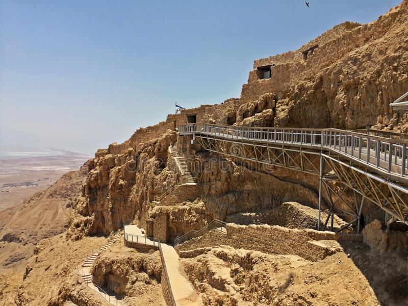 Φρούριο Masada στοκ φωτογραφίες