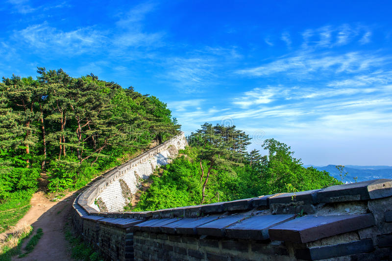 Φρούριο Namhansanseong στη Νότια Κορέα στοκ φωτογραφίες