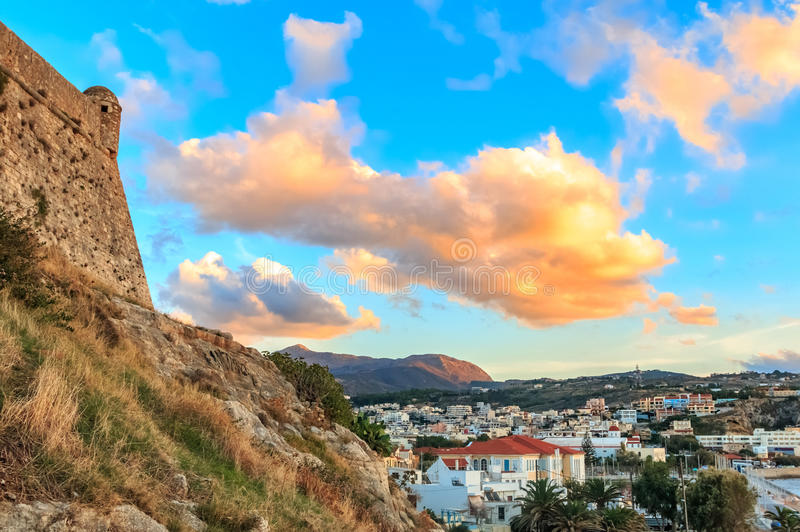 Φρούριο Rethymno λιμένων στοκ φωτογραφία
