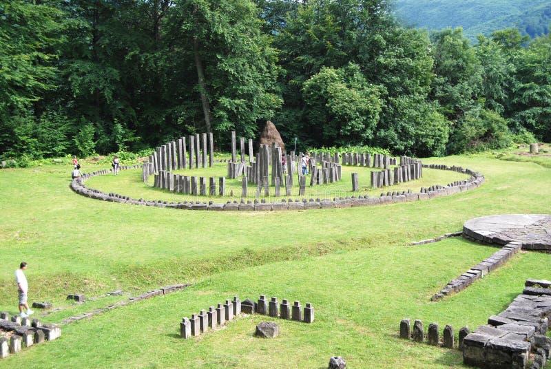 Φρούριο Sarmisegetuza στοκ εικόνες
