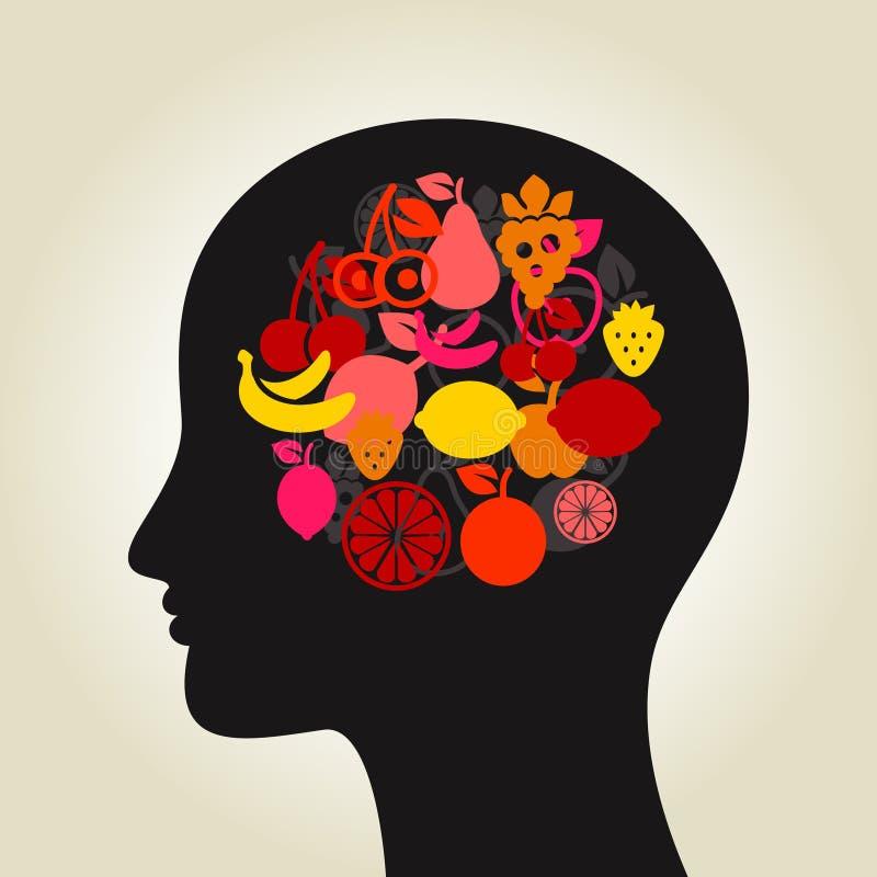 Φρούτα ένα κεφάλι διανυσματική απεικόνιση