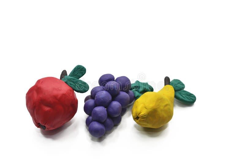 Φρούτα από το plasticine στοκ εικόνες με δικαίωμα ελεύθερης χρήσης
