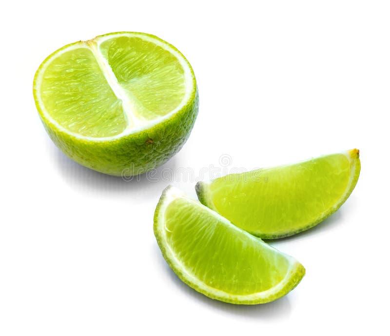Φρούτα ασβέστη που απομονώνονται στο λευκό στοκ εικόνες με δικαίωμα ελεύθερης χρήσης