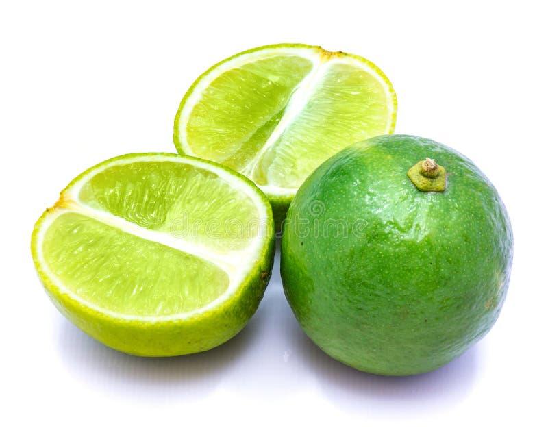 Φρούτα ασβέστη που απομονώνονται στο λευκό στοκ φωτογραφία με δικαίωμα ελεύθερης χρήσης