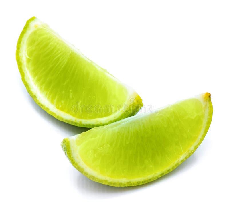 Φρούτα ασβέστη που απομονώνονται στο λευκό στοκ φωτογραφίες με δικαίωμα ελεύθερης χρήσης