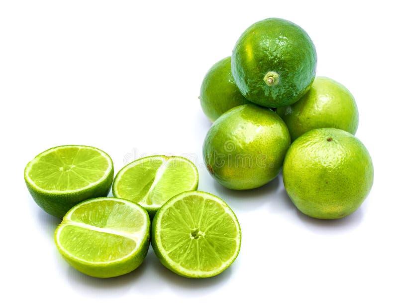 Φρούτα ασβέστη που απομονώνονται στο λευκό στοκ εικόνα με δικαίωμα ελεύθερης χρήσης