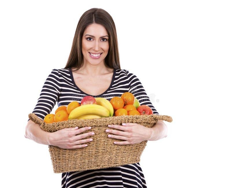 Φρούτα εκμετάλλευσης γυναικών στοκ φωτογραφία