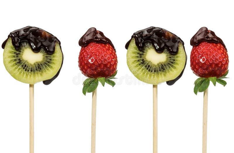 Φρούτα και σοκολάτα στοκ φωτογραφία με δικαίωμα ελεύθερης χρήσης