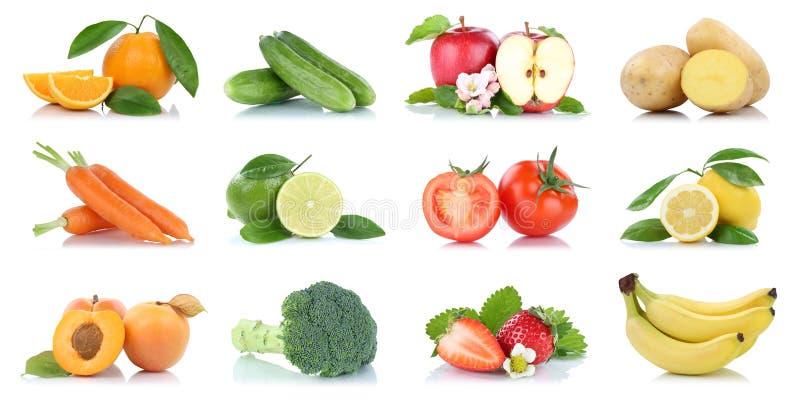 Φρούτα πολύς απομονωμένος ουρακοτάγκος μήλων φρούτων και λαχανικών συλλογή στοκ φωτογραφίες