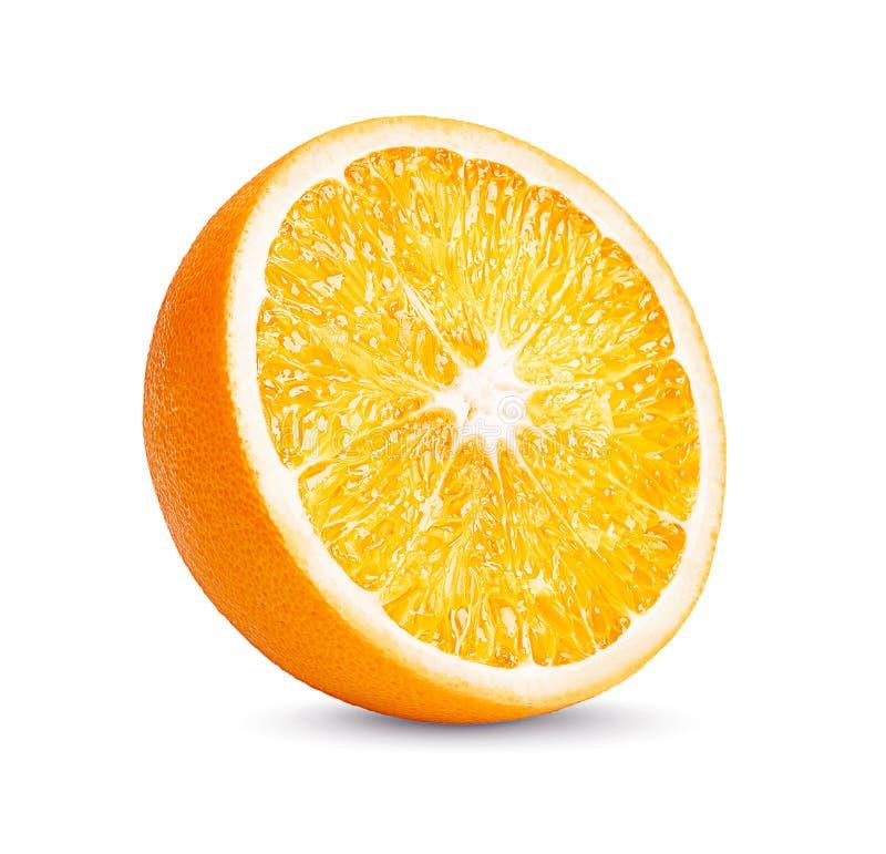 Φρούτα, πορτοκαλιά φρούτα Η πορτοκαλιά φέτα απομονώνει στο άσπρο υπόβαθρο στοκ εικόνα