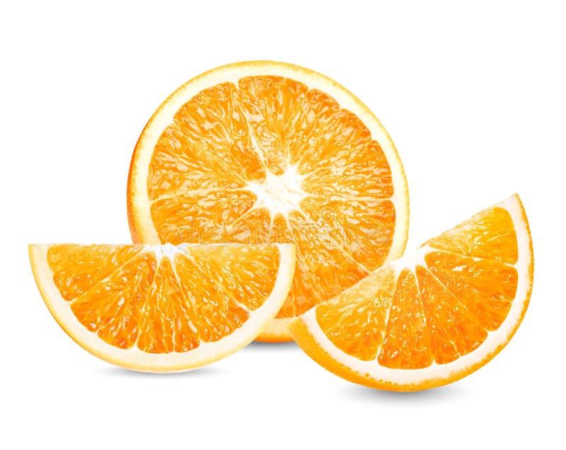 Φρούτα, πορτοκαλιά φρούτα Η πορτοκαλιά φέτα απομονώνει στο άσπρο υπόβαθρο στοκ φωτογραφία