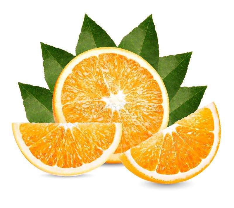Φρούτα, πορτοκαλιά φρούτα Η πορτοκαλιά φέτα απομονώνει στο άσπρο υπόβαθρο στοκ φωτογραφία με δικαίωμα ελεύθερης χρήσης