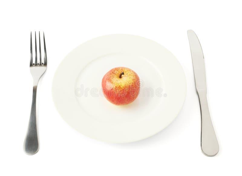 Φρούτα της Apple σε ένα πιάτο που απομονώνεται στοκ φωτογραφία με δικαίωμα ελεύθερης χρήσης