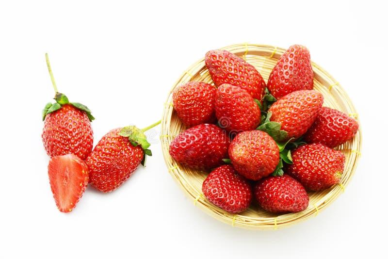 Φρούτα φραουλών στο κιβώτιο στοκ φωτογραφίες