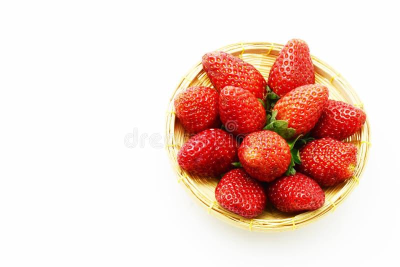 Φρούτα φραουλών στο κιβώτιο στοκ φωτογραφία