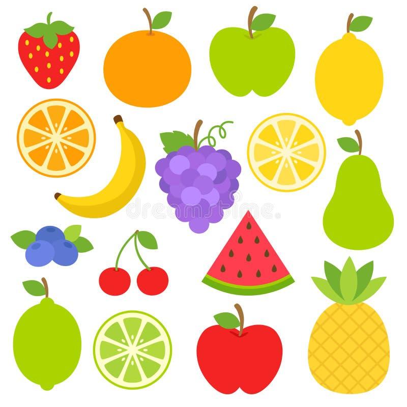 Φρούτα Clipart ελεύθερη απεικόνιση δικαιώματος