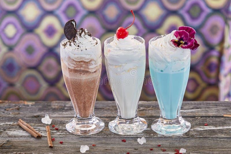 Φρούτα milkshakes στοκ εικόνα