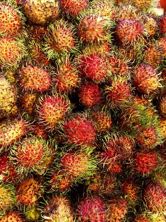 Φρούτα Rambutan στοκ εικόνα με δικαίωμα ελεύθερης χρήσης