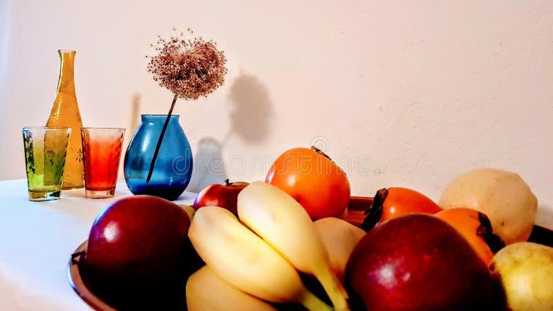 Φρούτων εξωτικά φρούτα κήπων ντεκόρ φρούτων τροπικά lifes ακόμα στοκ εικόνες