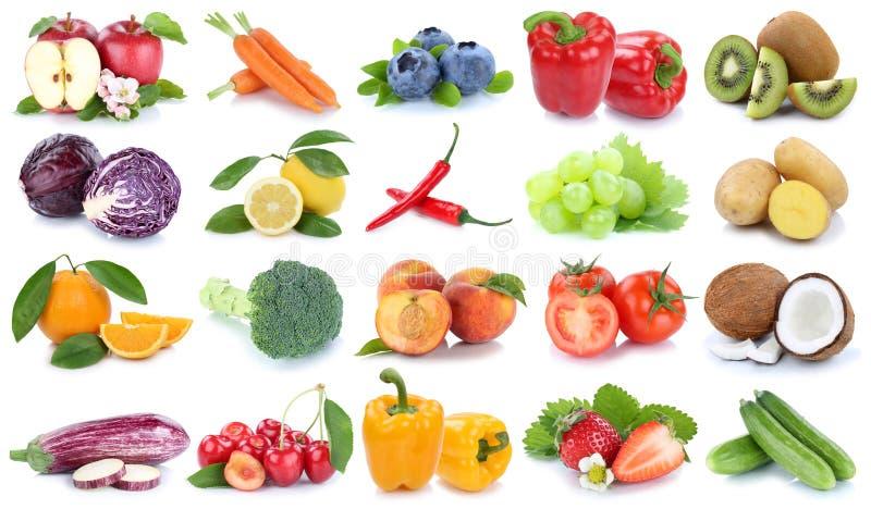 Φρούτων και λαχανικών απομονωμένο συλλογή toma ακτινίδιων μήλων πορτοκαλί στοκ φωτογραφίες