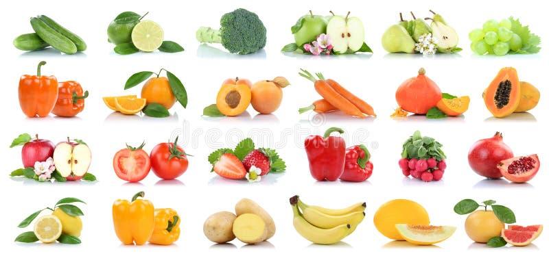 Φρούτων πορτοκαλί gra μήλων φρούτων και λαχανικών απομονωμένο συλλογή στοκ εικόνα με δικαίωμα ελεύθερης χρήσης