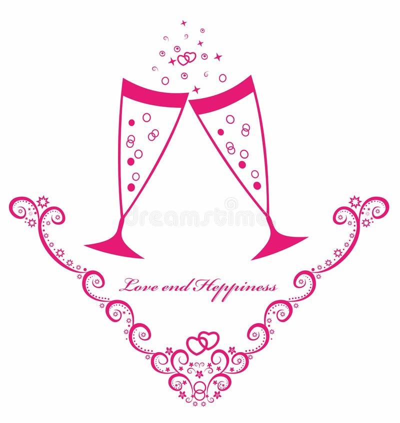 Φρυγανιά εορτασμού με το champagn. Απεικόνιση στοκ φωτογραφίες με δικαίωμα ελεύθερης χρήσης