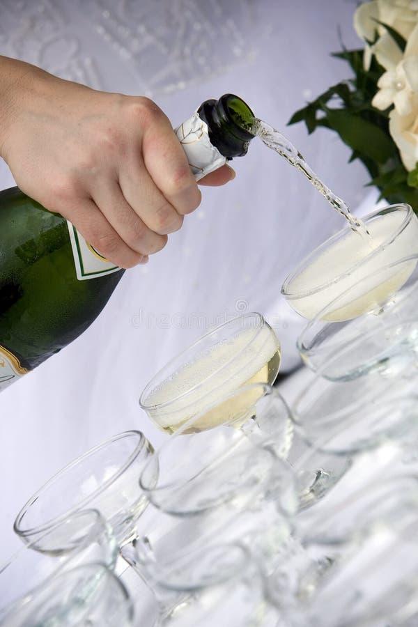 Φρυγανιά CHAMPAGNE - γάμος στοκ εικόνα με δικαίωμα ελεύθερης χρήσης
