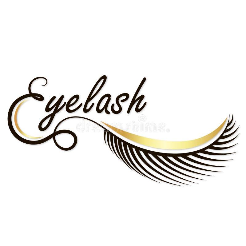 Φρύδια και eyelashes σαλόνι απεικόνιση αποθεμάτων