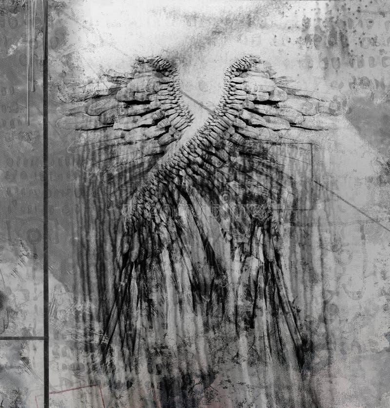 Φτερά αγγέλων ελεύθερη απεικόνιση δικαιώματος