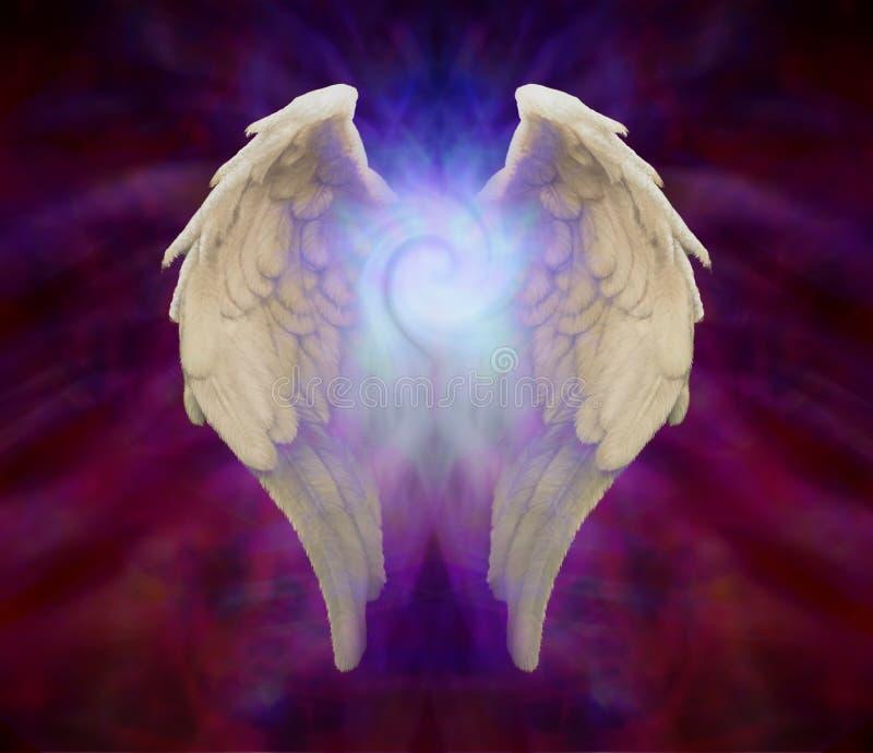 Φτερά αγγέλου και καθολική σπείρα ελεύθερη απεικόνιση δικαιώματος
