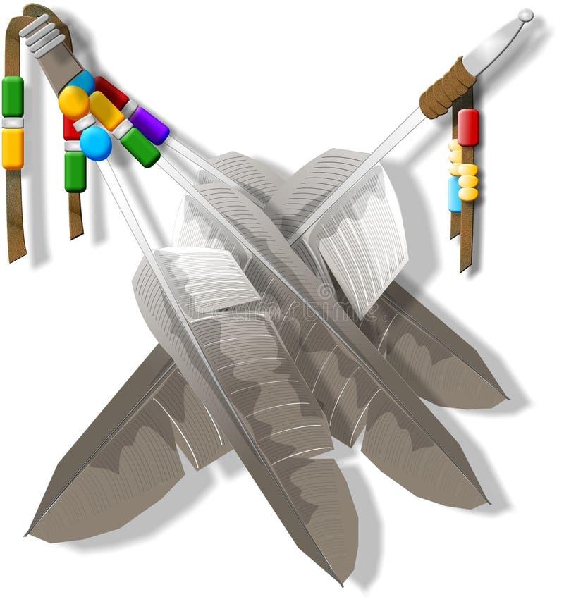 φτερά διακοσμητικά διανυσματική απεικόνιση