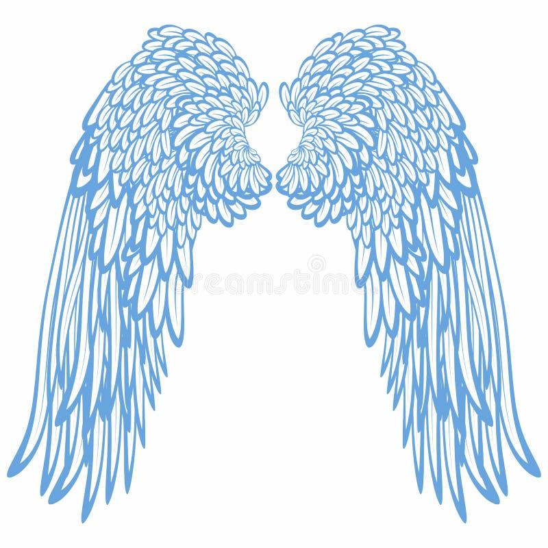 φτερά ζευγαριού αγγέλων διανυσματική απεικόνιση