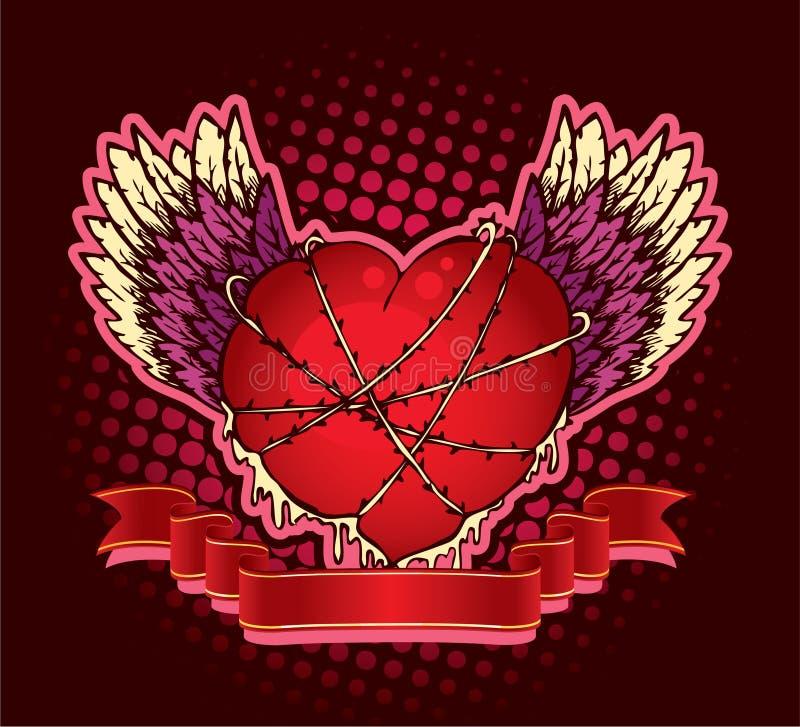 φτερά καρδιών ελεύθερη απεικόνιση δικαιώματος