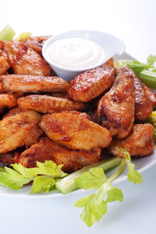 φτερά κοτόπουλου βούβα&lam στοκ εικόνα με δικαίωμα ελεύθερης χρήσης
