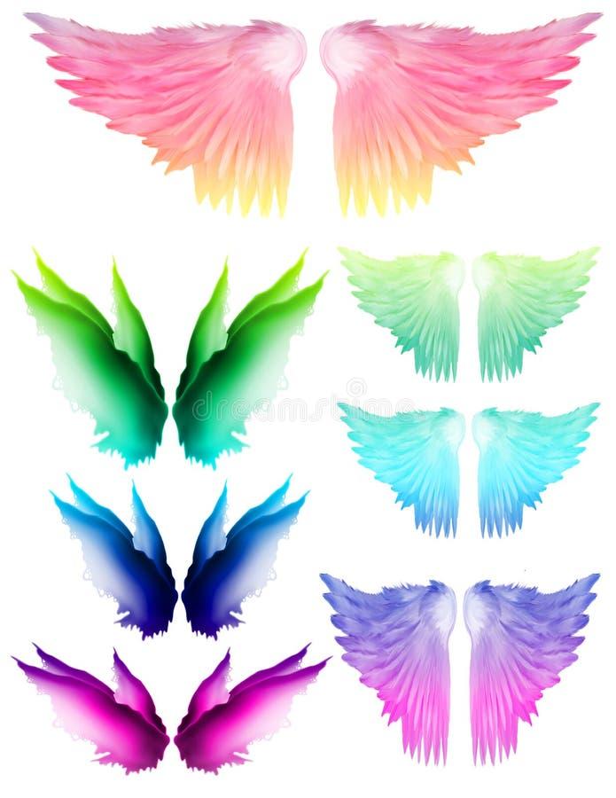 Φτερά ουράνιων τόξων απεικόνιση αποθεμάτων