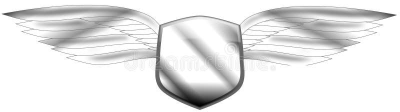 Φτερωτή ασπίδα διανυσματική απεικόνιση