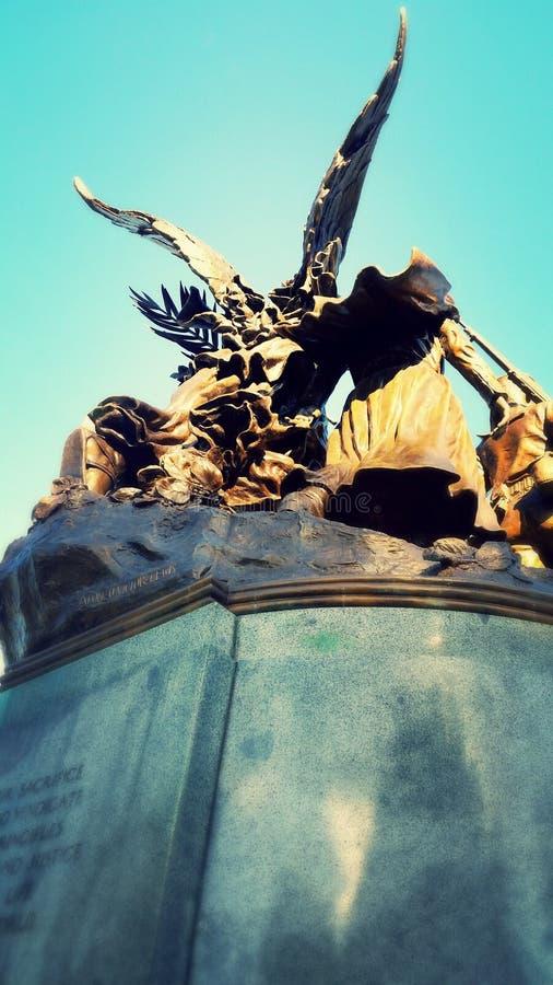 Φτερωτός άγγελος χαλκού στοκ φωτογραφία με δικαίωμα ελεύθερης χρήσης