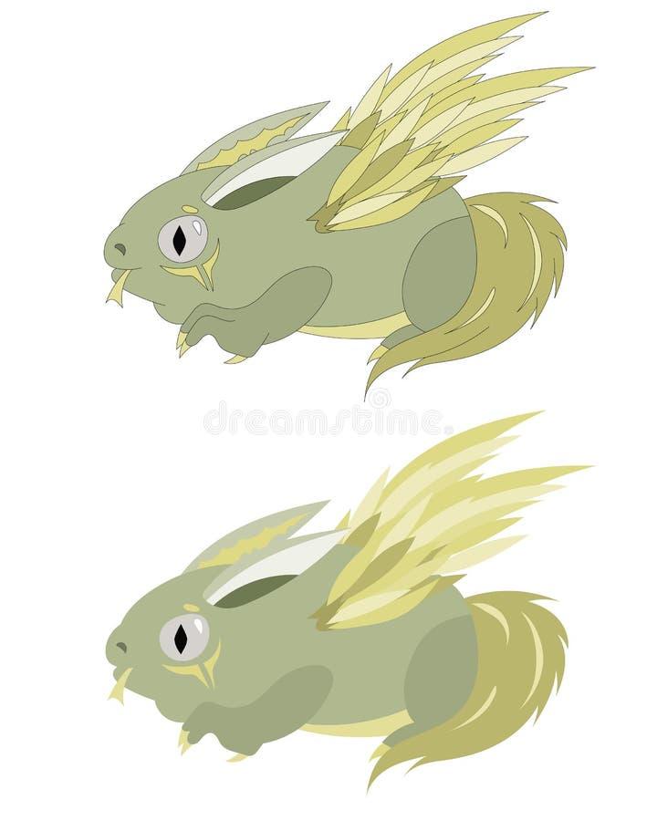 Φτερωτό bunnyfrog στοκ εικόνες