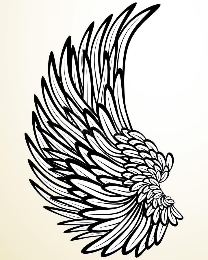 φτερό αγγέλου διανυσματική απεικόνιση