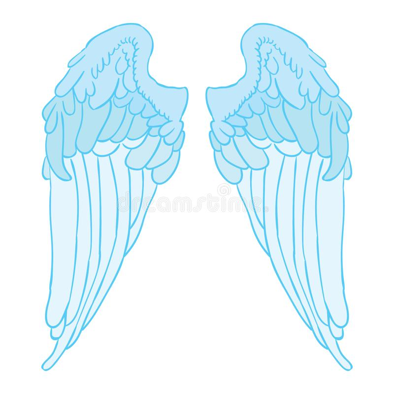 Φτερό διανυσματικό eps αγγέλου από το crafter oks ελεύθερη απεικόνιση δικαιώματος