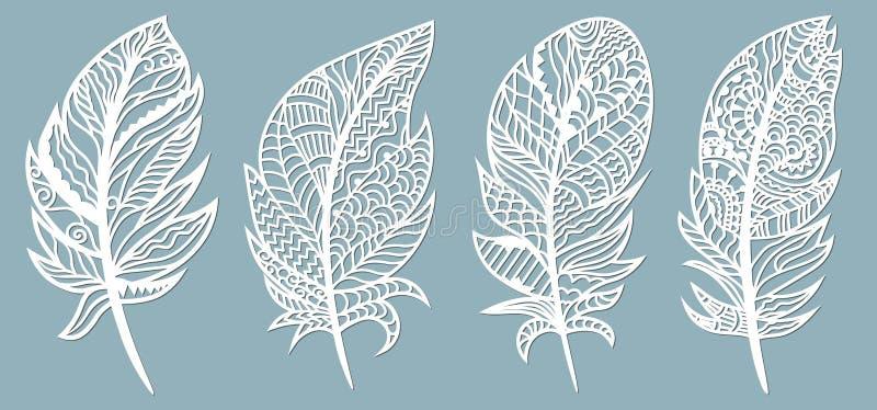 Φτερό Περικοπή λέιζερ Πρότυπο για την κοπή και το σχεδιαστή λέιζερ r sticker Σχέδιο για την περικοπή λέιζερ, serigraphy, ελεύθερη απεικόνιση δικαιώματος