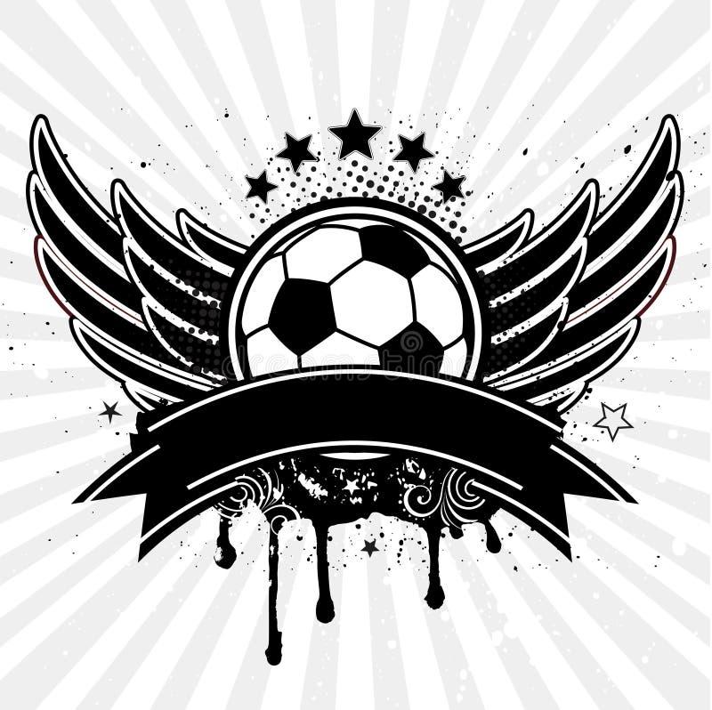 φτερό ποδοσφαίρου σφαιρώ διανυσματική απεικόνιση