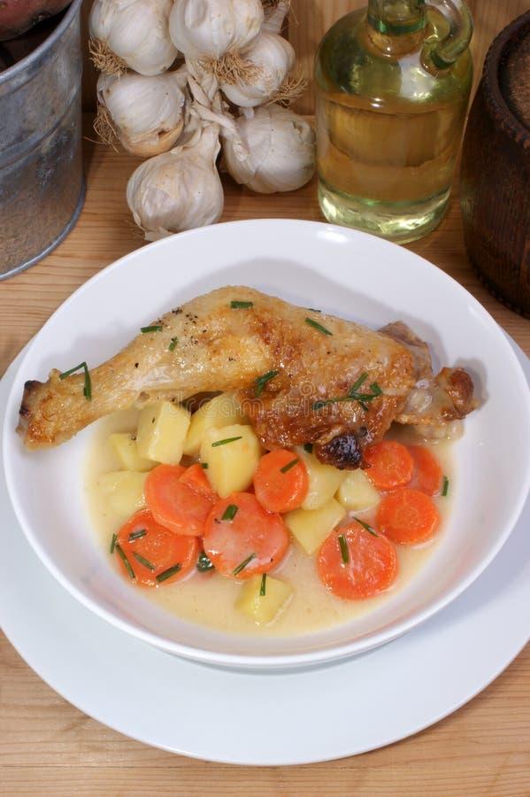 φτερό σούπας πατατών κοτόπ&omicro στοκ εικόνες με δικαίωμα ελεύθερης χρήσης