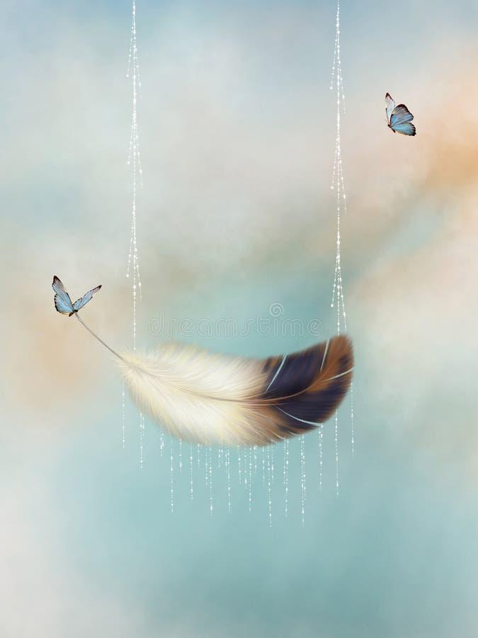 Φτερό απεικόνιση αποθεμάτων