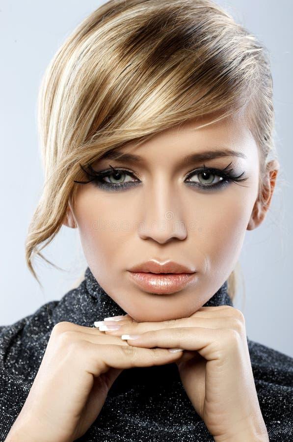 φτερό makeup στοκ φωτογραφία