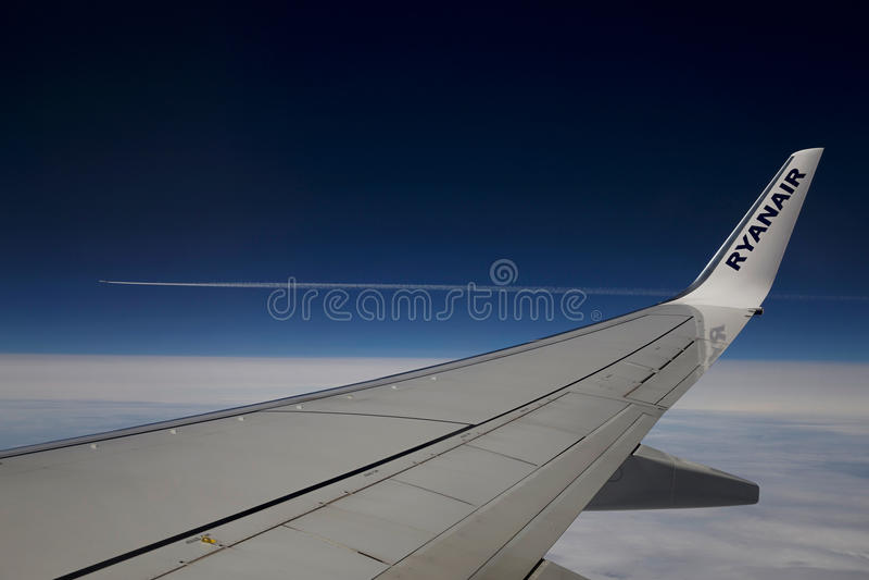 Φτερό Ryanair στοκ φωτογραφία