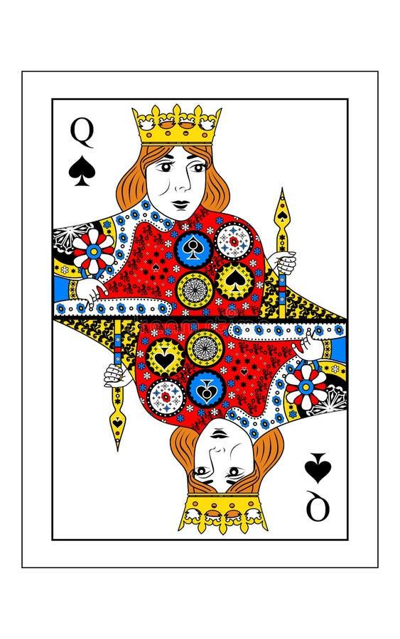 φτυάρια βασίλισσας διανυσματική απεικόνιση
