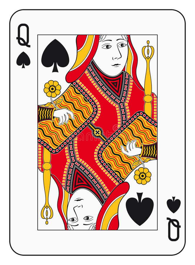 φτυάρια βασίλισσας απεικόνιση αποθεμάτων