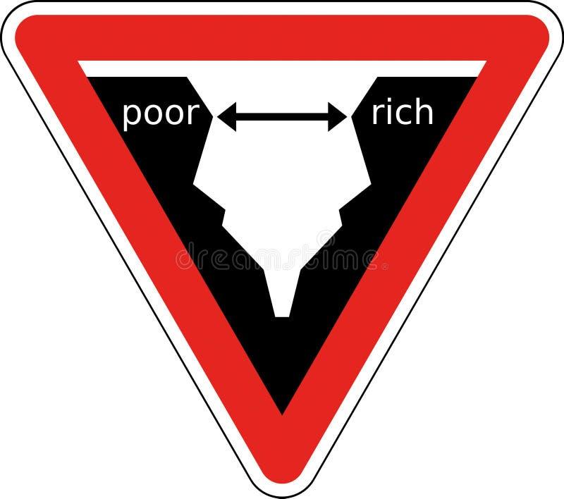 φτωχοί πλούσιοι διανυσματική απεικόνιση